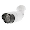 Caméra factice LED infrarouges IP44 blanc KONIG