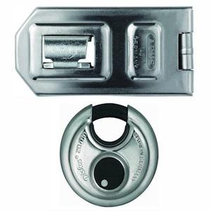 Porte cadenas cadenas abus diskus s curit camion fourgon porte garage box - Cadenas pour porte de garage ...